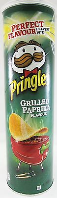 Pringles GRILLED PAPRIKA Potato Chips - 195g - Made in BELGIUM- FREE SHIPPING