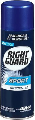 Right Guard Sport Anti-Perspirant Deodorant Spray Unscented 6 oz (Pack of (Sport Anti Perspirant Deodorant Spray)