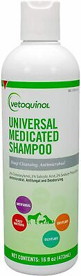 Vetoquinol Universal Medicated Pet Shampoo Dog Cat Horse 16 oz.