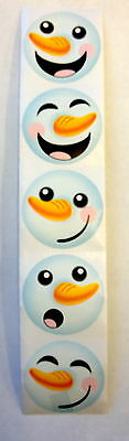 50 Holiday Snowman Stickers Teacher Supply Party Favors Winter - Snowman Favors