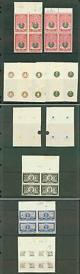 Haiti 1950 200th Anniv. imperf PROOF BLOCKS (x10)