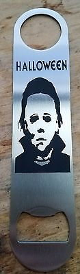 Halloween micheal myers title stainless steel bottle opener/church key - Halloween Opening Titles