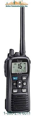New Icom M73 Plus Vhf 6w Submersible Marine Handheld Radio