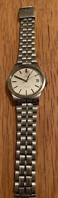 Vintage Omega Mechanical Geneve Watch Stainless Steel Strap.