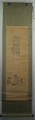 Rollbild Japan Gemälde Bild Kakemono Makuri Kakejiku Scroll Kalligraphie 358