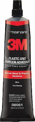 3M 08061 Plastic & Emblem Adhesive 5 ounces Made in USA Free Shipping!