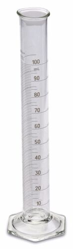 Corning Pyrex® #3024 Single Metric Scale, Glass Graduated Cylinder, 100ml, Each