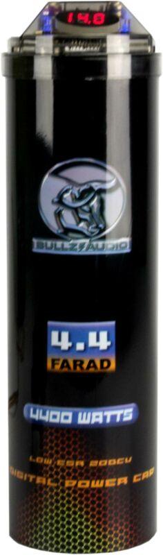 Bullz Audio 4400W 12V BCAP Digital Car 4.4 Farad Power Capacitor (Refurbished)