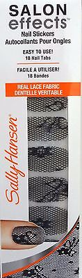 Sally Hansen Salon Effects Nail Stickers Halloween Lace~#846 Little Black Lace