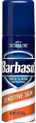 Barbasol Thick - Rich Shaving Cream, Sensitive Skin 2 oz