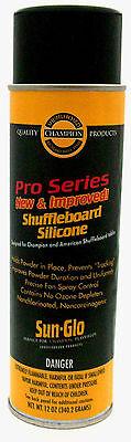 Sun-Glo Pro Silicone Shuffleboard Table Spray SunGlo Shuffle Boards