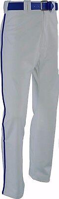 Russell Athletic Women's Low Rise Softball Pants Grey Blue Pip Medium 72447XK