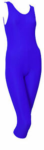 Lycra-Catsuit-Sleeveless-Plain-Front-Calf-Length-Ballet-Colours-GEMMA-CALF