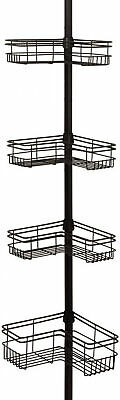 bronze tension pole mount 4 shelves bath