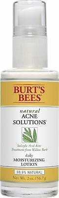 NEW! Burt's Bees Natural Acne Solutions Daily Moisturizing Lotion, 2 Oz., No Box