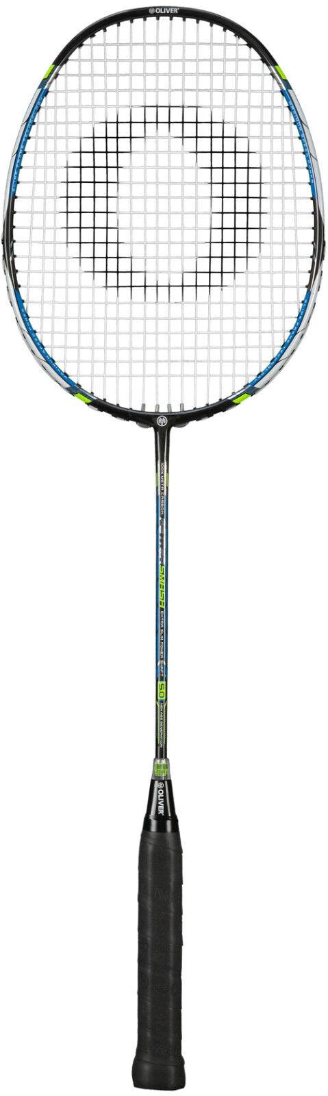 Badminton Racket Oliver Fetter Smash 5.0 mit Oliver Schlägerhülle u. 3 Overgrips