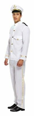 Captain Mens Fancy Dress Up Outfit Costume Ship Naval Officer Sailor Male NEW](Sailor Men Costume)