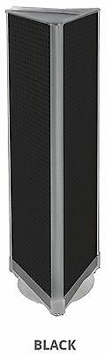 3 Sided Pegboard Tower Display In Black 16w X 60h Inch With Revolving Base