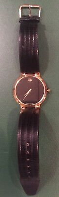 Men's Gold Tone Movado Museum Black Dial 88 45 1891 Watch