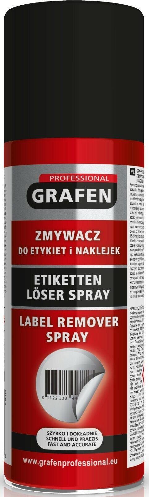 2x Grafen Klebstoffentferner Spray Kleberentferner Etikettenlöser 200ml