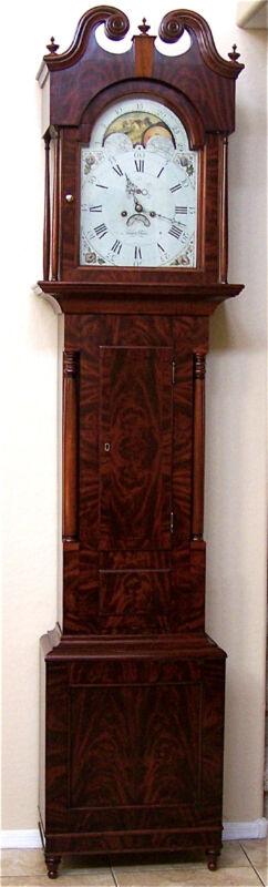 Rare GRIFFITH OWEN Tall Case Grandfather Clock, James Wilson Dial c.1790-1800