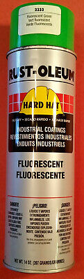 6 Cans 14 Oz Ea. Rust-Oleum Hard Hat Fluorescent Green Enamel Spray Paint (Fluorescent Green Spray Paint)