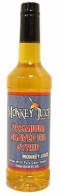 Monkey Juice Snow Cone Syrup - Made With Pure Cane Sugar - Monkey Juice Brand