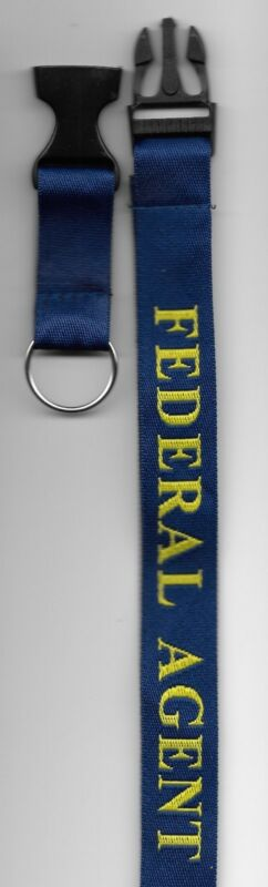 FEDERAL AGENT LANYARD Key Ring Holder. ID Card Police ATF, DEA, DHS, FBI, ICE