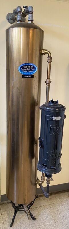 Vintage Antique Ruud Gas Hot Water Heater Model # 25 Circa 1929