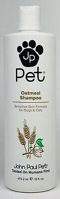 1 John Paul Pet OATMEAL Shampoo Sensitive Skin Formula For Dogs & Cats(16 fl oz) John Paul Pet Cat Shampoo