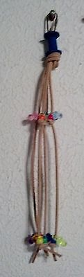 Spool Spider Bird Toys Leather Beads Pacifiers Small Parrot Conure Cockatiel USA