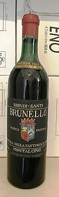 BRUNELLO DI MONTALCINO BIONDI SANTI RISERVA 1955 CL 72 top wine xx secolo rarità