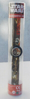 Star Wars Kinderuhr Armbanduhr Analoge Disney Slap Analog Watch schwarz Neu