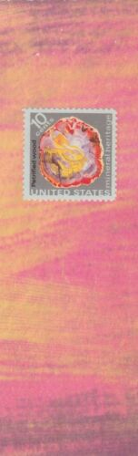 Petrified Wood - US Postage, decorative paper,  laminated bookmark
