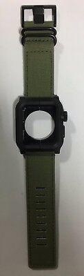 LUNATIK EPIK Case and Canvas Band for Apple Watch 42mm Green EPIK-021 series 1