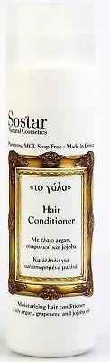 SOSTAR HAIR CONDITIONER ARGAN ORGANIC DONKEY MILK GRAPE SEED JOJOBA - Grape Hair Conditioner