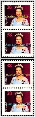 4x CANADA 1988 CANADIAN QUEEN ELIZABETH FV FACE $1.52 MNH SE-TENANT STAMP LOT