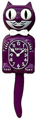 "Classic Vintage Retro Kit-Cat Klock 15 1/2"" Boysenberry Clock Roll Eyes Tail"