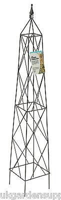 1.5m Paris Metal Obelisk - Climbing Plant Garden Support