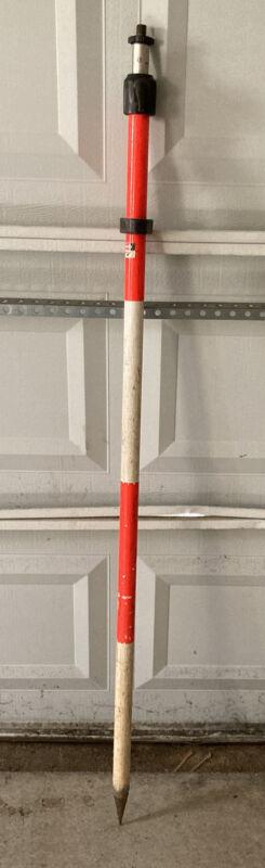 Surveying Telescopic Aluminum Prism Pole. 8.3 Feet