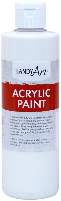 Handy Art Acrylic Paint 8oz-Titan White