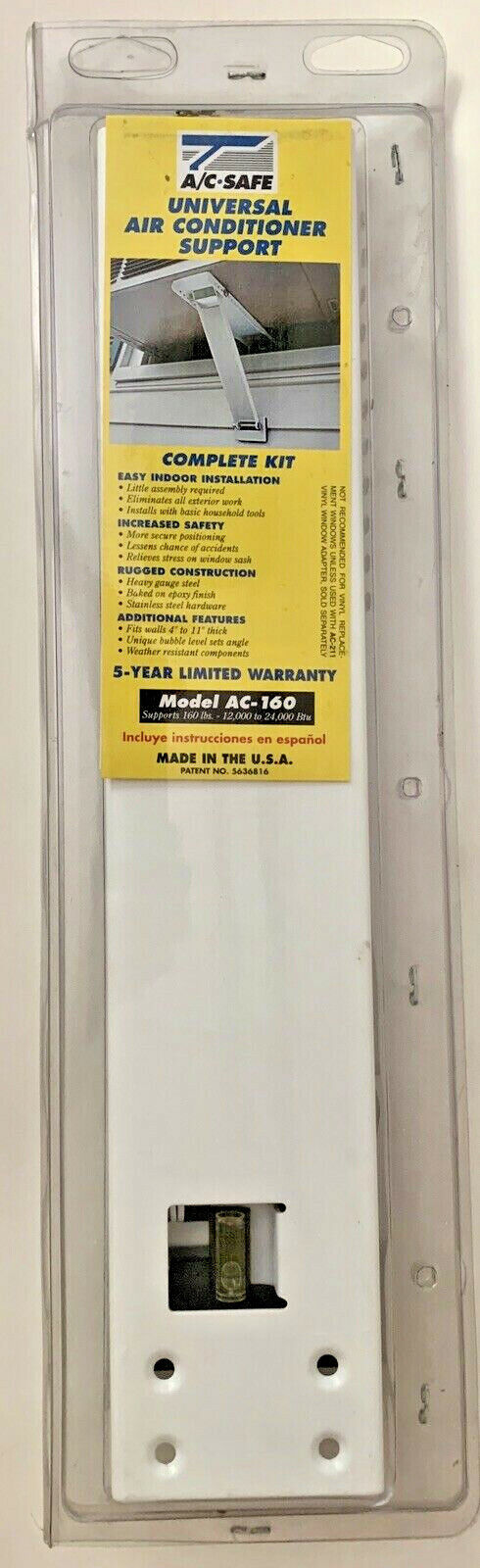 A/C Safe AC-160 Universal Heavy Duty Window Air Conditioner