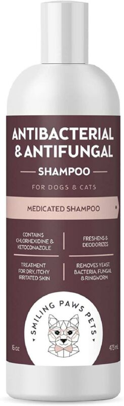 1 Pack Antibacterial & Antifungal Shampoo For Dogs & Cats Contains Ketoconazole