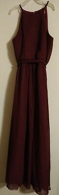 Bill Levkoff Girls Junior Bridesmaid Dress-Sleeveless/Long/Wine-#126702-Sz 14 Bill Levkoff Junior Bridesmaid Dresses