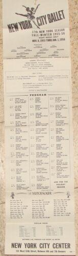 New York City Ballet 1956 Program Ad Poster