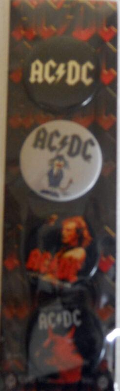 AC/DC PinBack Collectors Button Set(4)  NIP