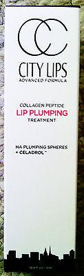 City Lips Advanced Lip Plumper +Collagen Lip Plumping Treatment Clear AUTHENTIC!