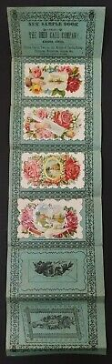 1880's Victorian Die Cut Calling Card Sample Book Ohio Card Company Cadiz Ohio