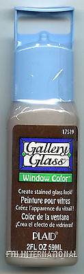 Plaid Gallery Glass Paint 17519 - 2 oz. Frost Root Beer ~ Stained Glass Look