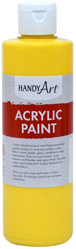 Handy Art Acrylic Paint 8oz-Chrome Yellow